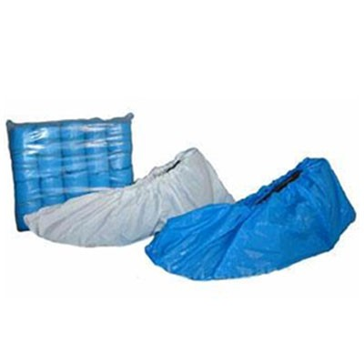 5.7 Mil White 16 100//BG 3//CS White CPE Shoe Covers