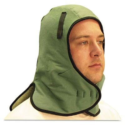 Extra Large Neck Flap Winter Liner, Twill, One Size Fits All, Light Green