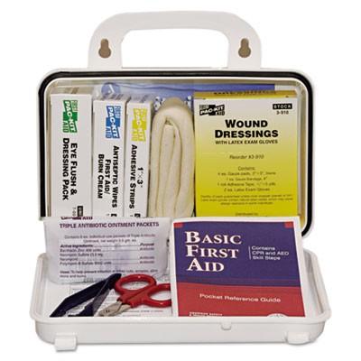ANSI Plus #10 Weatherproof First Aid Kit, 76 Pieces, Plastic Case
