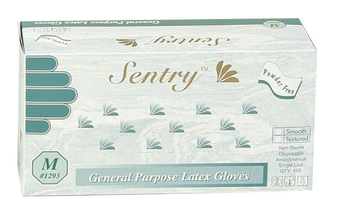 Latex General Purpose Gloves, Powder Free, Textured, Industrial Grade, USDA Compliant, 100/BX 10/CS