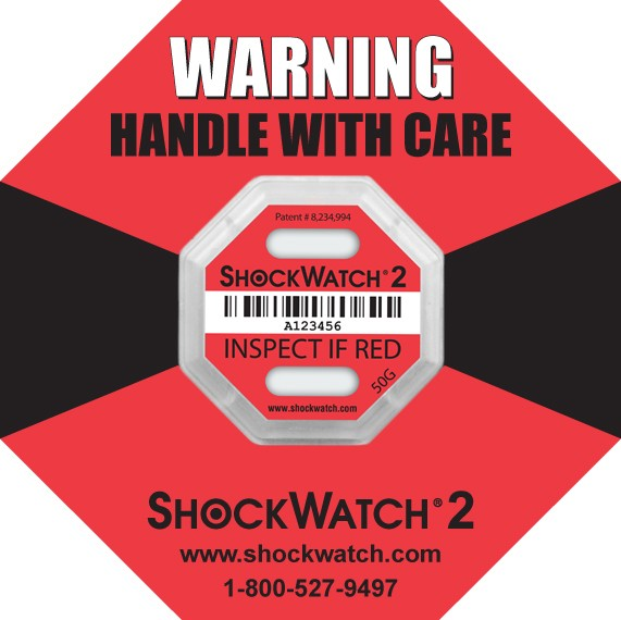 Shock Watch 2: Serialized Rating 50G Red 100/BX