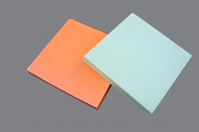 Sticky-Note Pad 3x3 Cleanroom Blue 80/PAD 120/BX