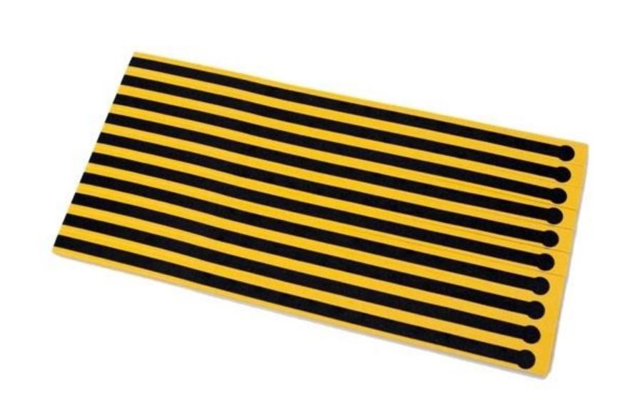 "Heel Grounder Disposable .5x15"" Yello/Black 10/SHT 10/BG"