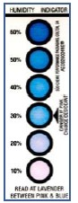 Humidity Indicator 6 Spot 1.56x4.5 200Cards/CRTN