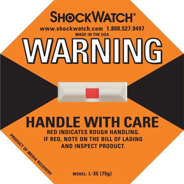 Shockwatch 75G Rating Orange Blank No Logo 50/bx