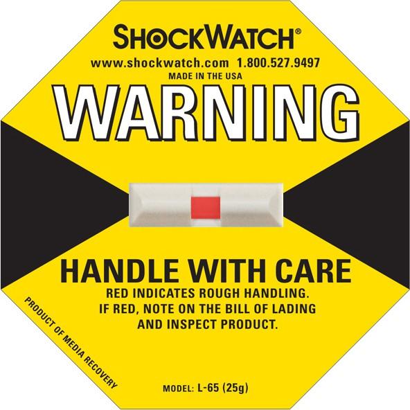 Shock Watch 25G Rating Yellow Blank No Logo 50/bx