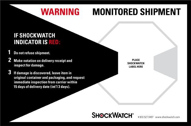 Label 5x8 Companion For Shockwatch 500/RL
