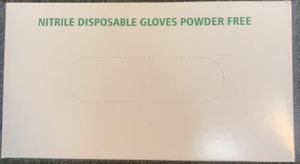 Gloves Nitrile Industrial Blue Powder Free 100/BX 10/CS