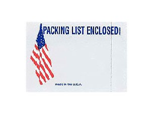 "Envelope 4.5x5.5 ""Packing List Enclosed"" American Flag 1K/CS"