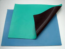 Mat Rubber Table 30x72 ESD Blue 2 Lyr 2 Ground Snaps 0.375