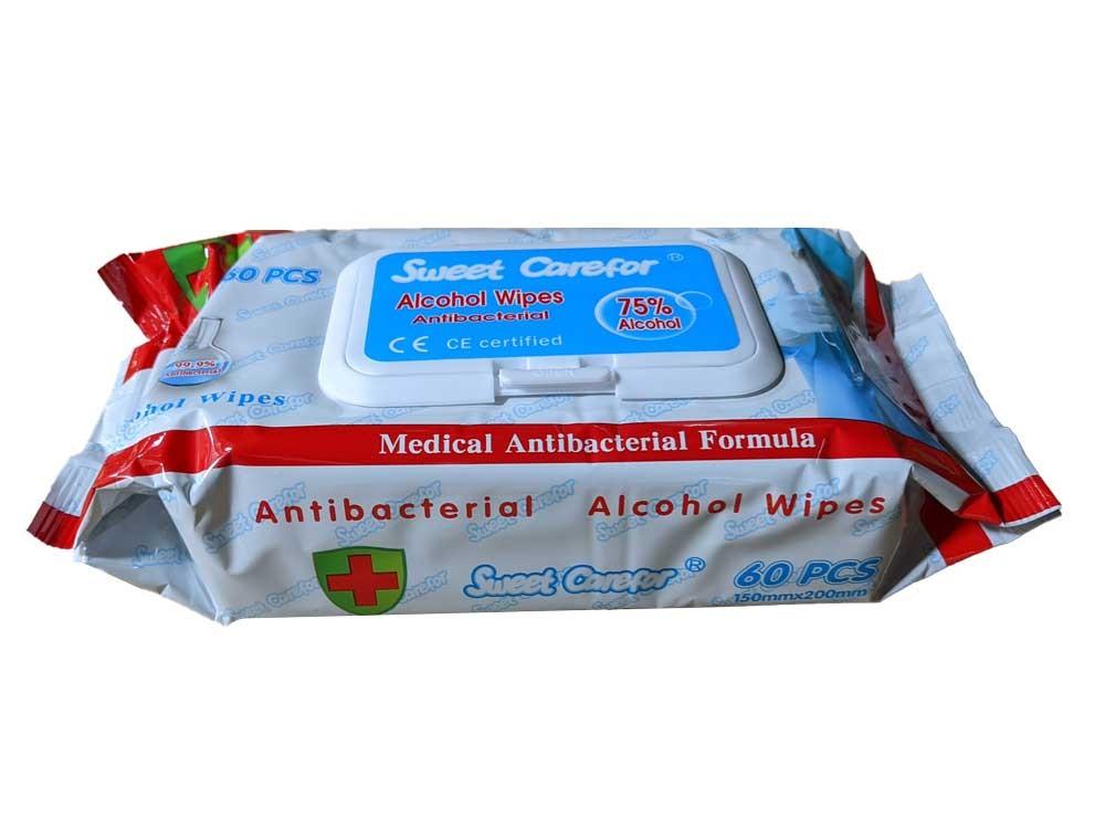 Wipe Alcohol 75% 7.87x5.90 50/PKG 24/CS