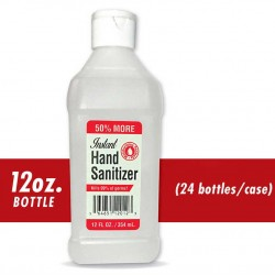 Hand Sanitizer 62% Ethyl Alcohol 12oz Flip Top Bottle 24/CS