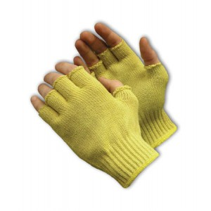 100% Kevlar, Half Finger, 7 Gauge M. Wgt. Size Large
