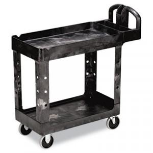Heavy-Duty Utility Cart, 2-Shelf, 17-7/8w x 39-1/4d x 33-1/4h, Black