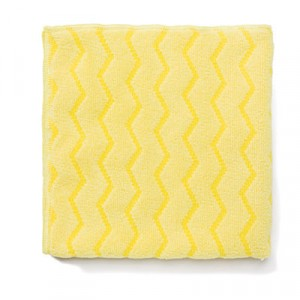 Reusable Cleaning Cloths, Microfiber, 16x16, Yellow