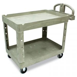 Heavy-Duty Utility Cart, 2-Shelf, 25-7/8w x 45-1/4d x 33-1/4h, Beige
