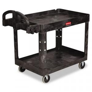 Heavy-Duty Utility Cart, 2-Shelf, 25-7/8w x 45-1/4d x 33-1/4h, Black