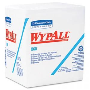 Wipe 13.5x13.5 WypAll X60 4x Fold Reinforced WHT 76/BX 12/CS