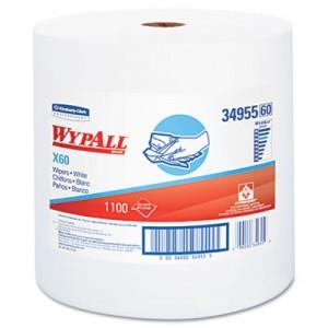 Wipe 12.5x13.4 WypAll X60 Reinforced White 1100/RL 1/CS