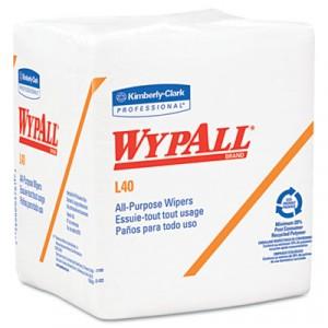 Wipe 12.5x14.4 WypAll L40 Quarter Fold White 56/PKG 18PKG/CS