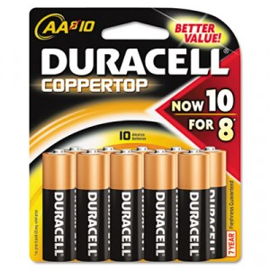 Coppertop Alkaline Batteries, AA