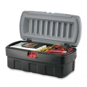 ActionPacker Cargo Box, 48gal, Black/Gray
