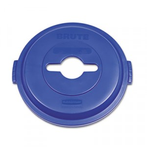 Single Stream Recycling Top for Brute 32 gal Containers, Blue