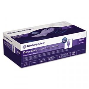 "Glove Nitrile 9.5"" Exam Purple Kimberly Clark Small 100/BX 10/CS"