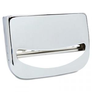 Toilet Seat Cover Dispenser, 16x3x11 1/2, Chrome