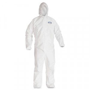 Coverall Kleenguard A40 w/Elastic Wrist & Ankles Hooded 25/CS