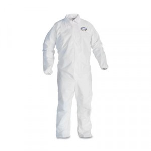 KLEENGUARD A40 Elastic-Cuff Coveralls, White, X-Large