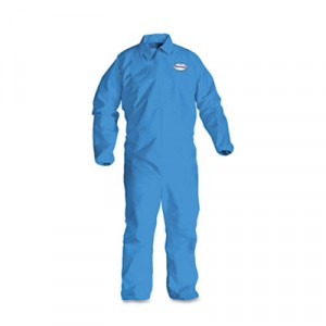 KLEENGUARD A60 Elastic-Cuff & Back Coveralls, Blue, X-Large