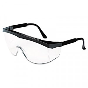 Stratos Safety Glasses, Black Frame, Clear Lens