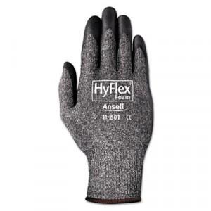 HyFlex Foam Gloves, Dark Gray/Black, Size 10 (X-Large)