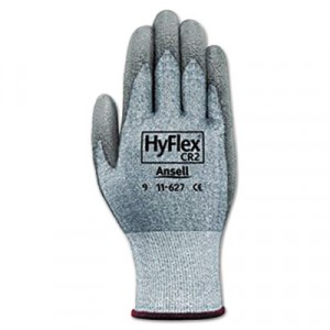 HyFlex 627 Light-Duty Gloves, Size 10 (X-Large), Dyneema/Lycra/Polyurethane, Gray