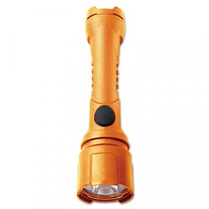 WorkSafe Intrinsic Razor Watertight LED Flashlight, On/Off, 3AA, Safety Orange