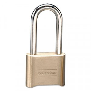 Resettable Combination Padlock, Brass, 2 in, Brass Color