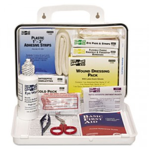 ANSI Plus #25 Weatherproof First Aid Kit, 143 Pieces, Plastic Case