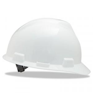 V-Gard Hard Hats with Staz-On Suspension, Standard Size 6 1/2 - 8, White