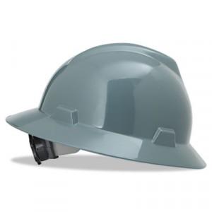 V-Gard Hard Hats w/Fas-Trac Ratchet Suspension, Standard Size 6 1/2 - 8, Gray