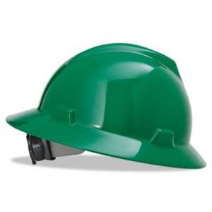 V-Gard Hard Hats w/Fas-Trac Ratchet Suspension, Standard Size 6 1/2 - 8, Green