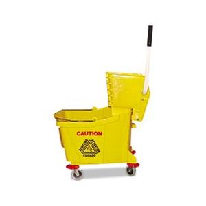 Mop Bucket/Wringer Combo Plastic Yellow