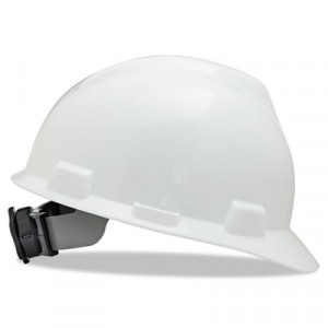 V-Gard Hard Hats w/Fas-Trac Ratchet Suspension, Standard Size 6 1/2 - 8, White