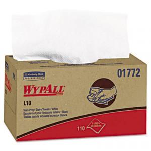 WYPALL L10 SANI-PREP Dairy Towels, 10 1/2x10 1/4, White