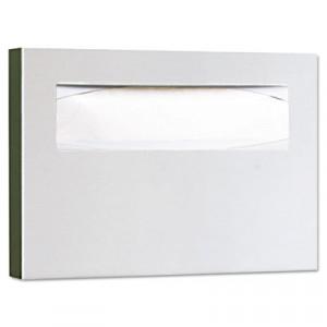 Toilet Seat Cover Dispenser, 15-3/4x2x11, Satin Stainless Steel