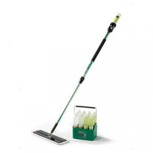 "Easy Scrub Express Starter Kit, 18"" Wide Microfiber, Aluminum Handle, Green"