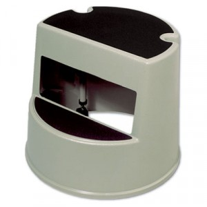 Stool 16x13 Beige Plastic Two-Step Mobile