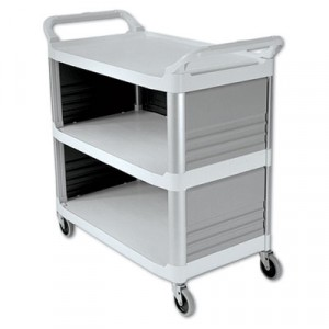 Xtra Utility Cart, 300-lb Cap., 3 Shelves, 20wx40d 5/8x37 4/5h, Off-White