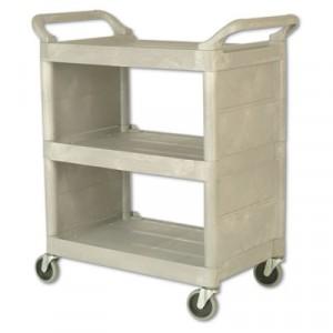 Utility Cart, 300-lb Cap., 3 Shelves, 18w x 32d x 37 1/2h, Platinum
