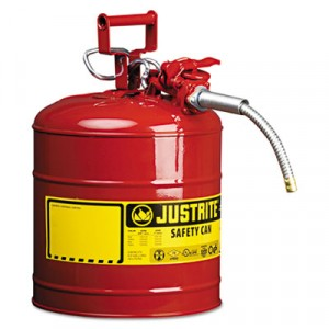 """AccuFlow Safety Can, Type II, 5 Gal, Red, 5/8"""" Hose"""